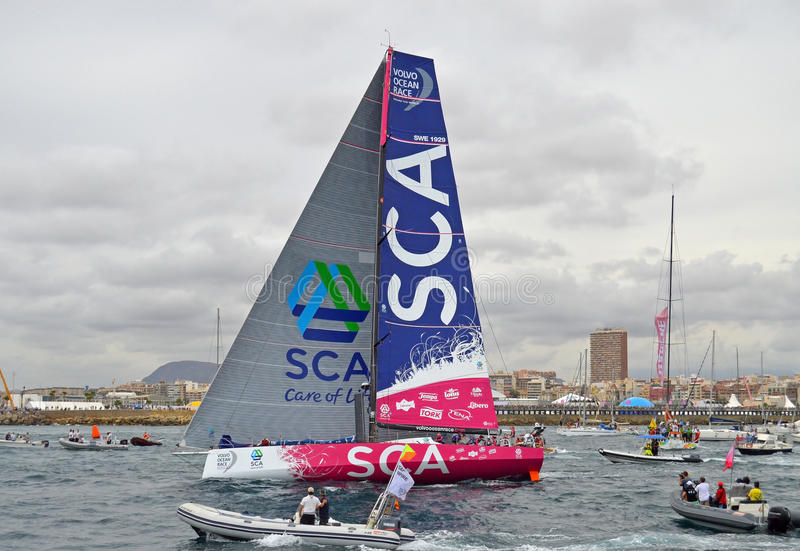 Volvo Ocean Race Team SCA royalty free stock images