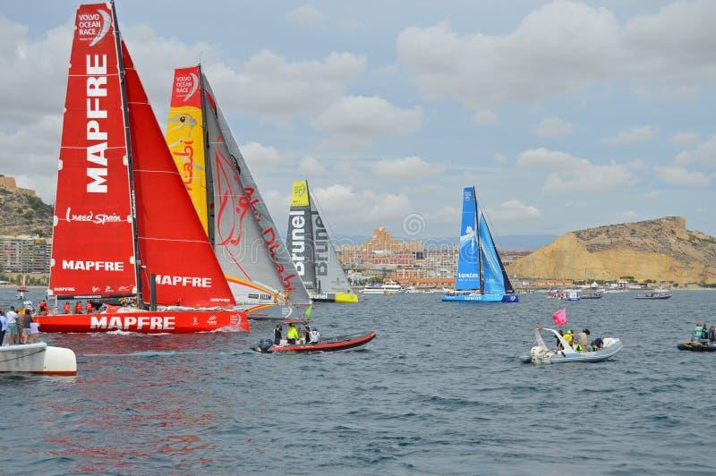 Volvo Ocean Race-Sailing Racing Yachts royalty free stock image