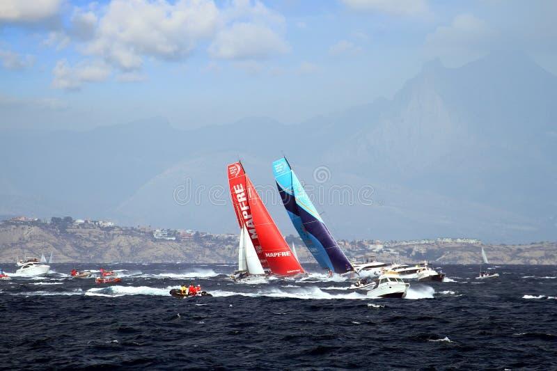 Volvo oceanu rasy drużyna Mapfre i drużyna Vestas zdjęcie stock