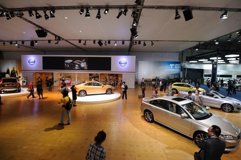 Volvo pavilion stock photo