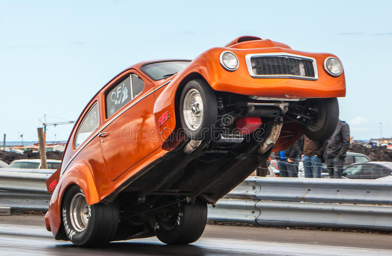 Volvo PV544. Image of volvo PV544 at drag racing event in Iceland stock image