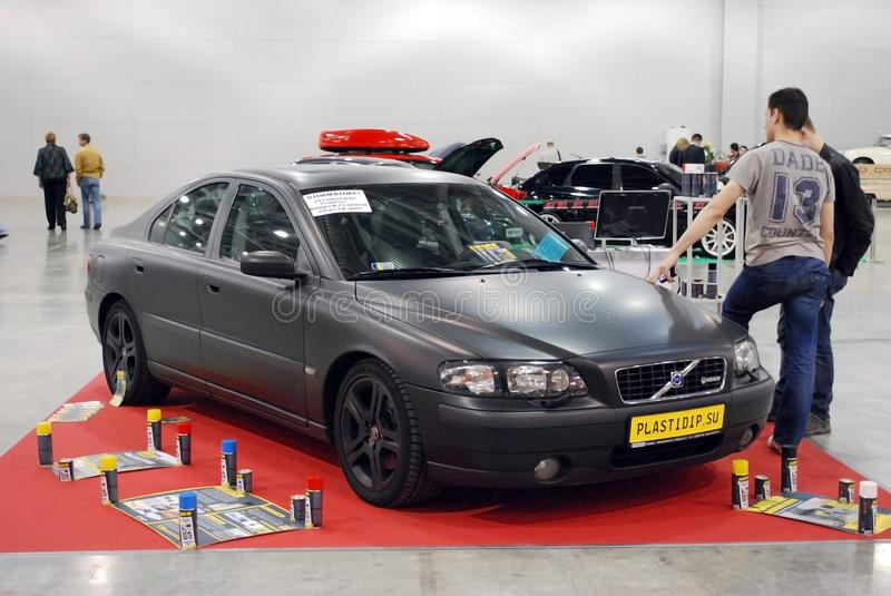 The Volvo S60 car at an exhibition in `Crocus Expo`, 2012. Moscow stock photos