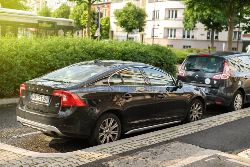 Volvo S60 parking city street France royalty free stock photos