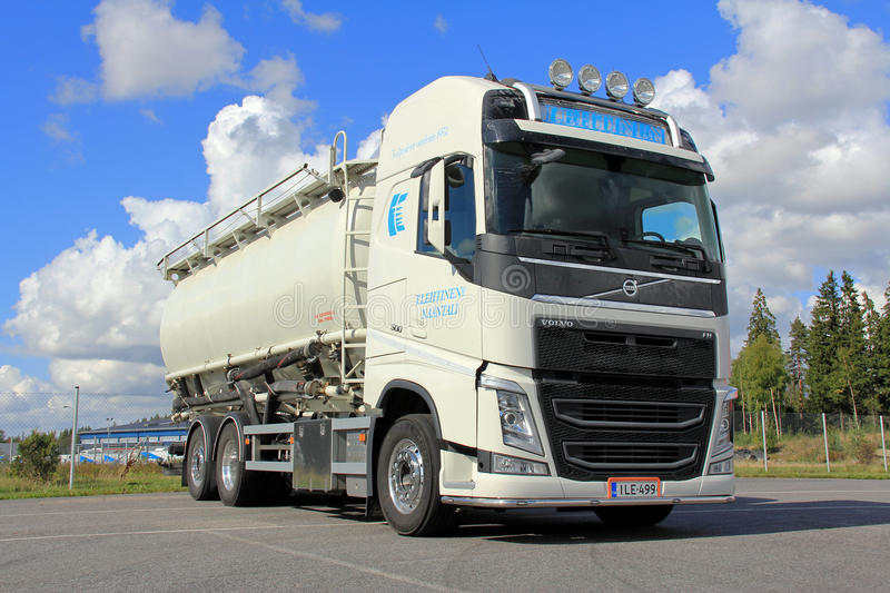 Volvo Tank Truck for Food Transport stock photo