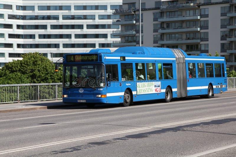 Volvo transportent à Stockholm photographie stock
