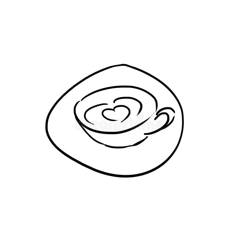Volwassen het Gekrabbelreeks van ` s: Een Kop van Koffie vector illustratie