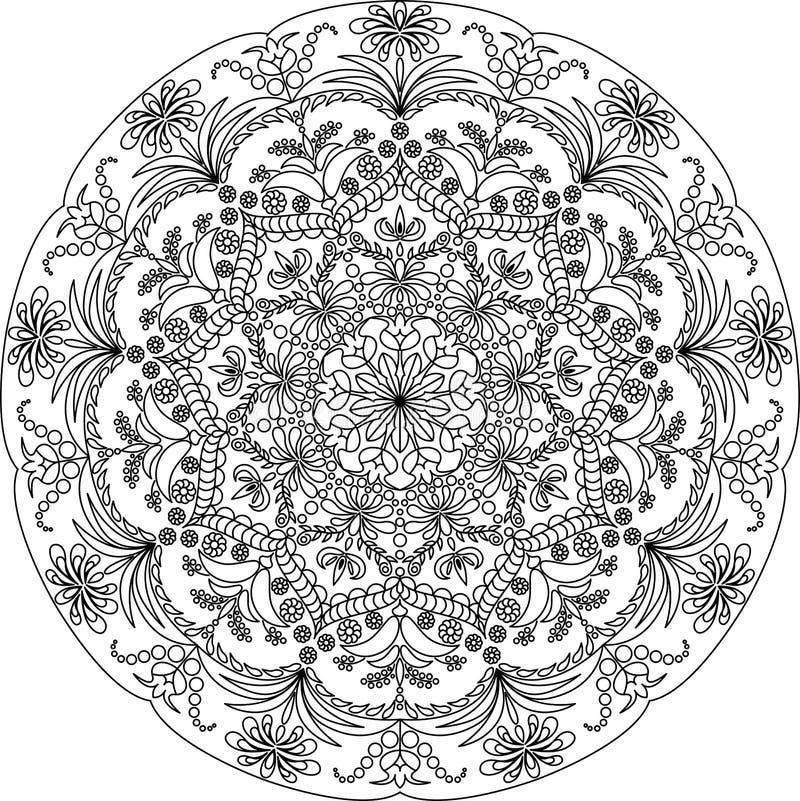 Volwassen mandala kleurende pagina stock fotografie