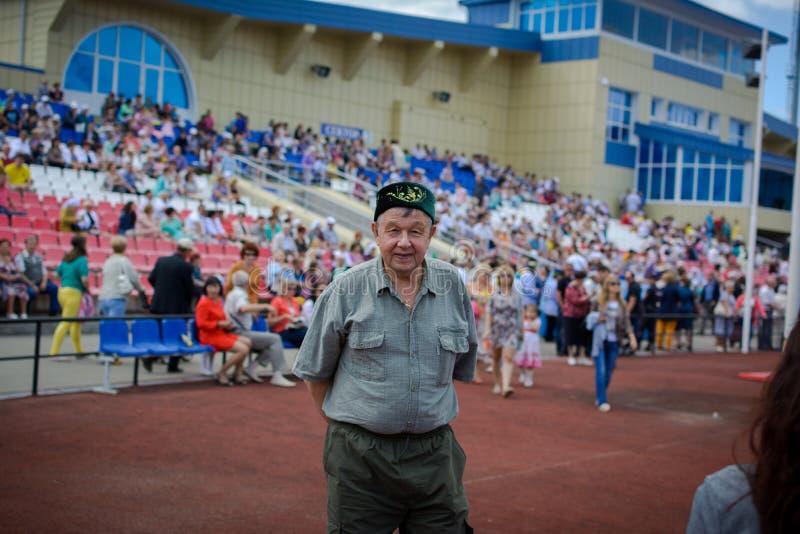 Volwassen mannetje van Tatar nationaliteit royalty-vrije stock foto's