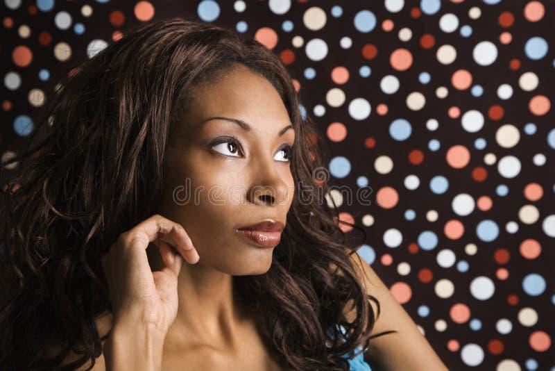 Volwassen vrouwelijk portret. stock afbeeldingen
