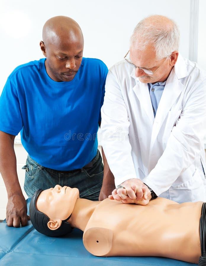 Volwassenenvorming - CPR-Handen  stock afbeelding