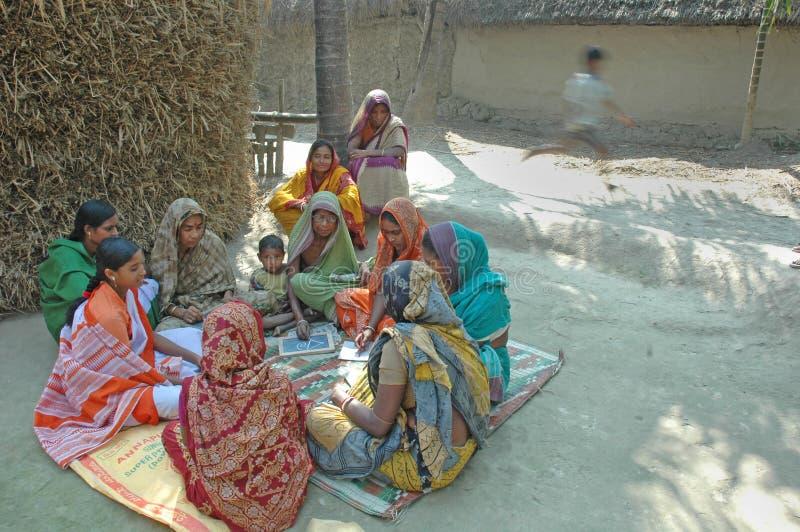 Volwassenenvorming in landelijk India royalty-vrije stock foto