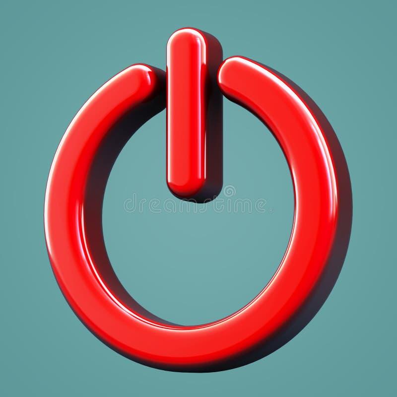 Volymetrisk avstängningssymbol stock illustrationer