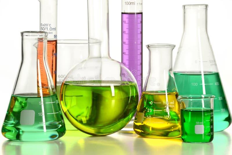 Volymetrisk laboratoriumglasföremål royaltyfri bild