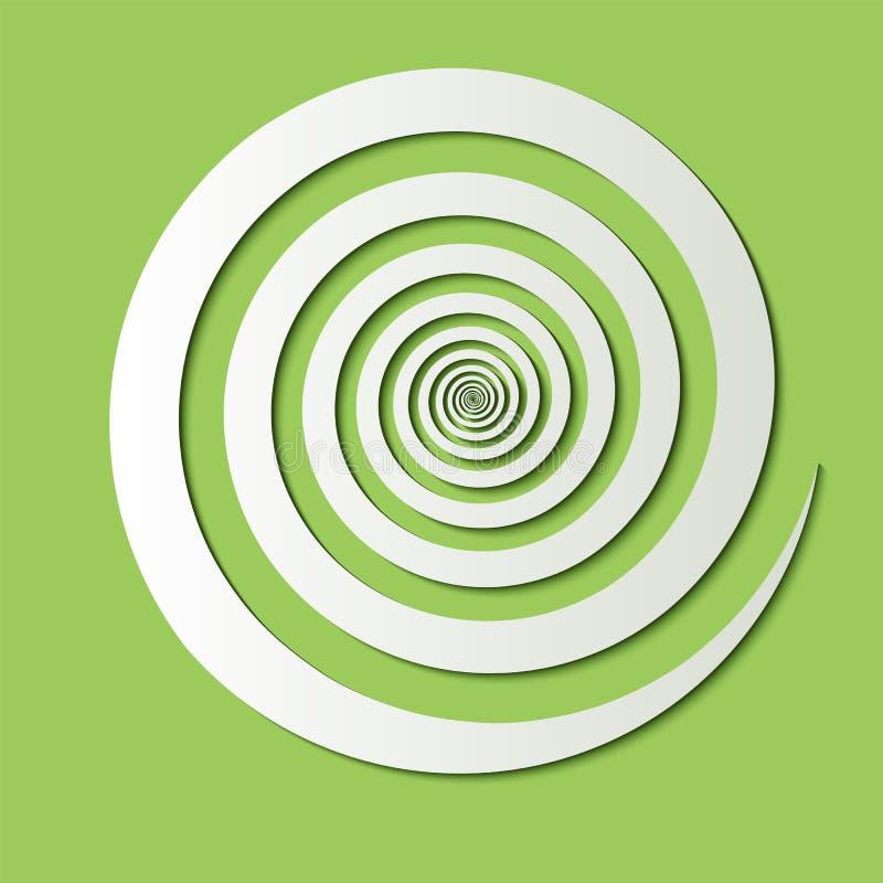 Volymetrisk pappersspiral vektor illustrationer
