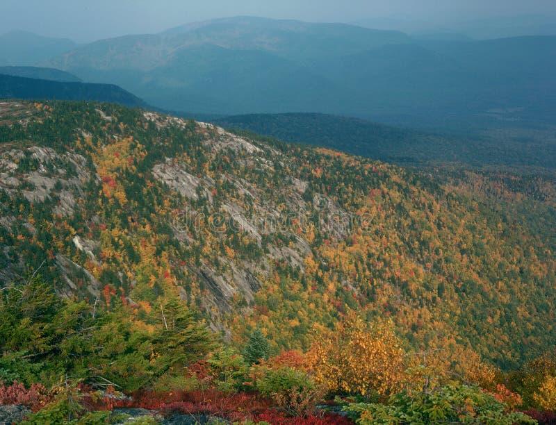 Vom Gipfel von Nord-Baldface, Evans Notch, weiße Berge, New Hampshire lizenzfreie stockfotografie