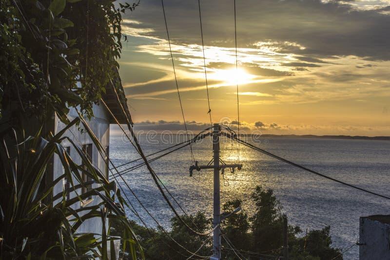 Vom Strand von Guaratiba-Bar in Rio de Janeiro lizenzfreie stockbilder