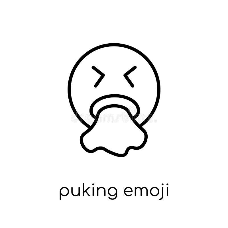 Vomitare l'icona di emoji dalla raccolta di Emoji illustrazione di stock