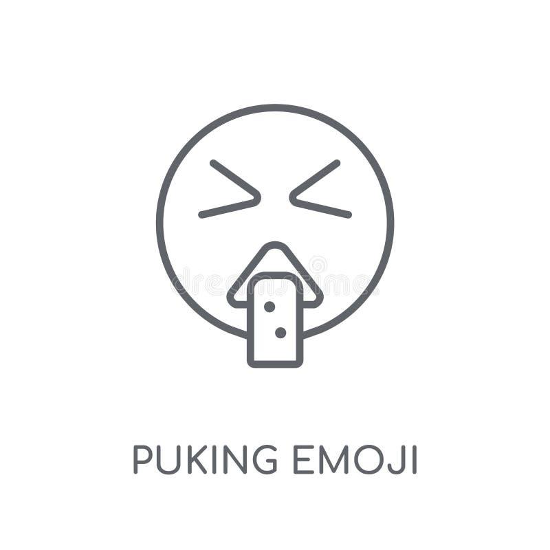 Vomitare l'icona lineare di emoji Profilo moderno che vomita conce di logo di emoji illustrazione vettoriale