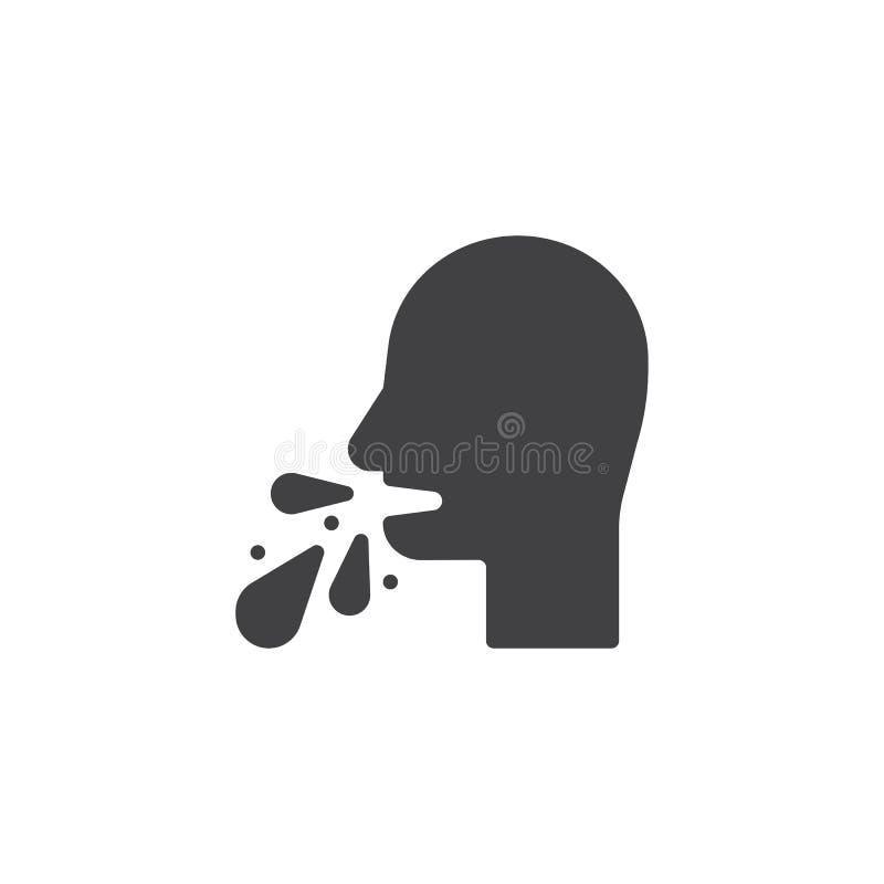 Vomiting man vector icon stock illustration