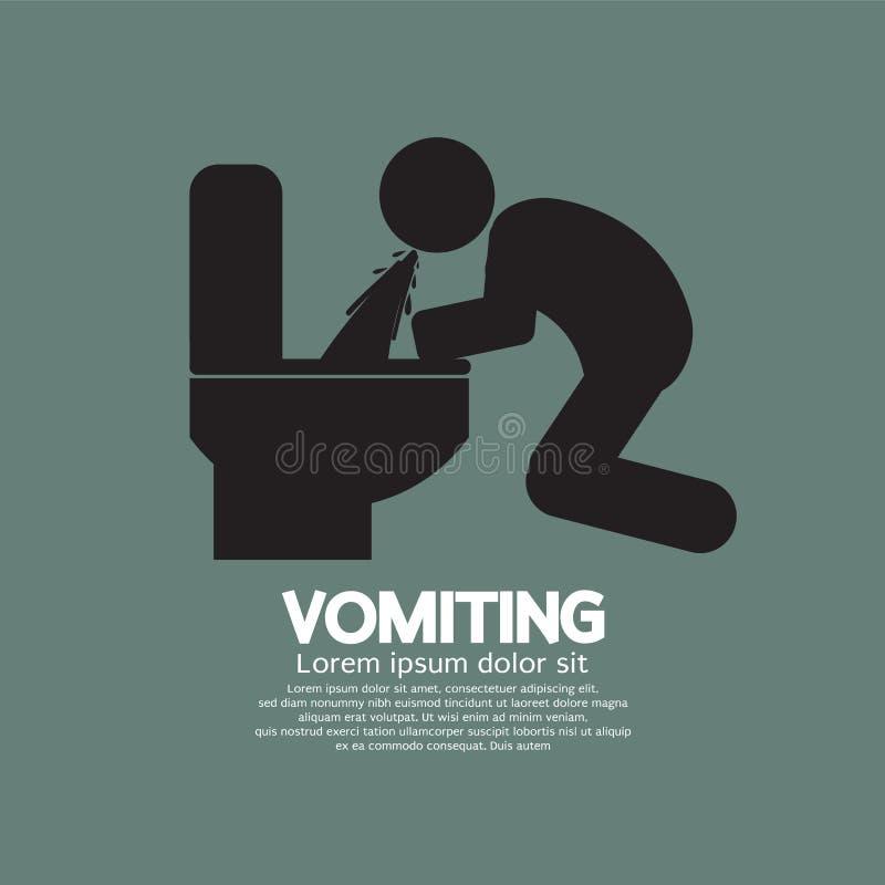 Vomiting Person Graphic Symbol royalty free illustration
