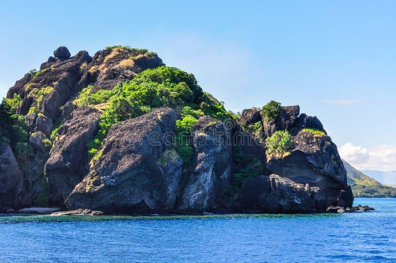 Vomoeiland in Fiji stock foto's