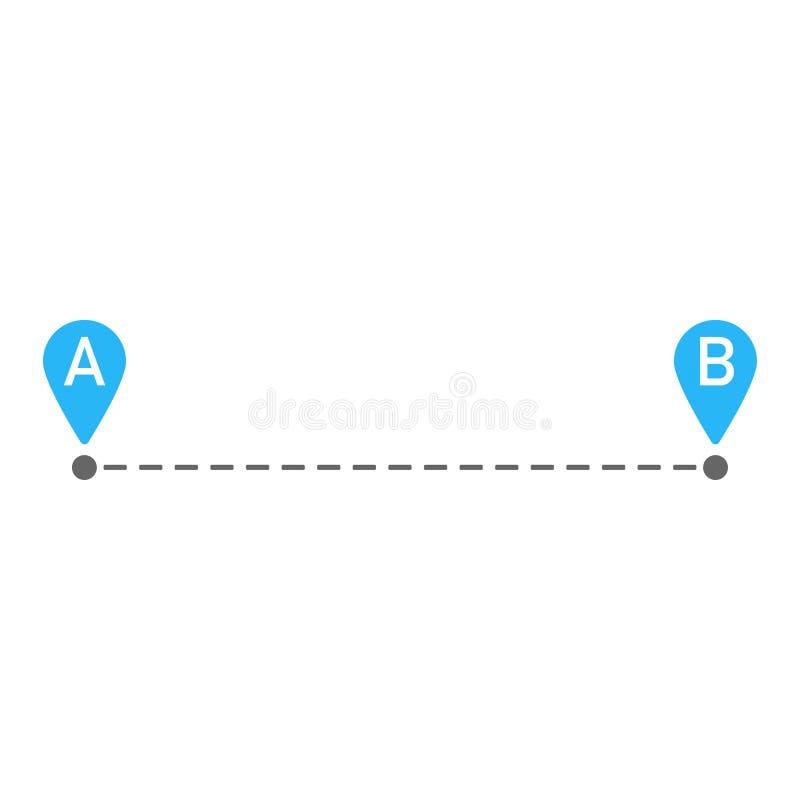Von Anfang bis Ende Kartenstiftweg vektor abbildung