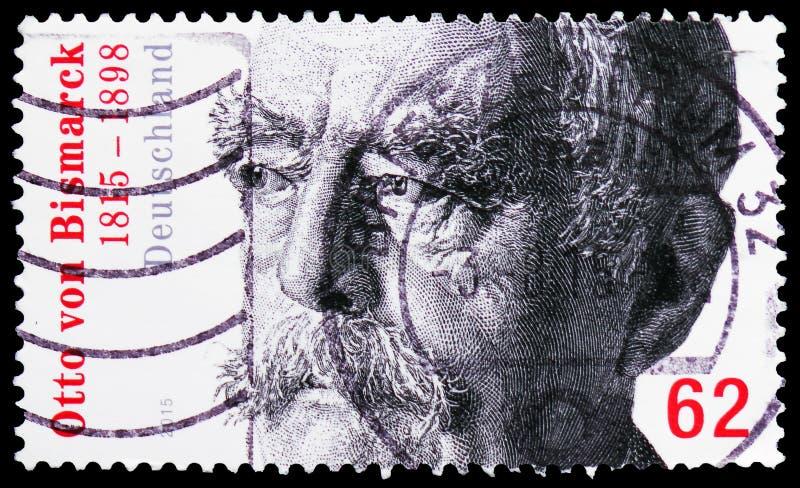 Von Bismarck 1815-1898, bicentenaire de rst de ¼ d'Otto FÃ de serie de naissance, vers 2015 photographie stock libre de droits