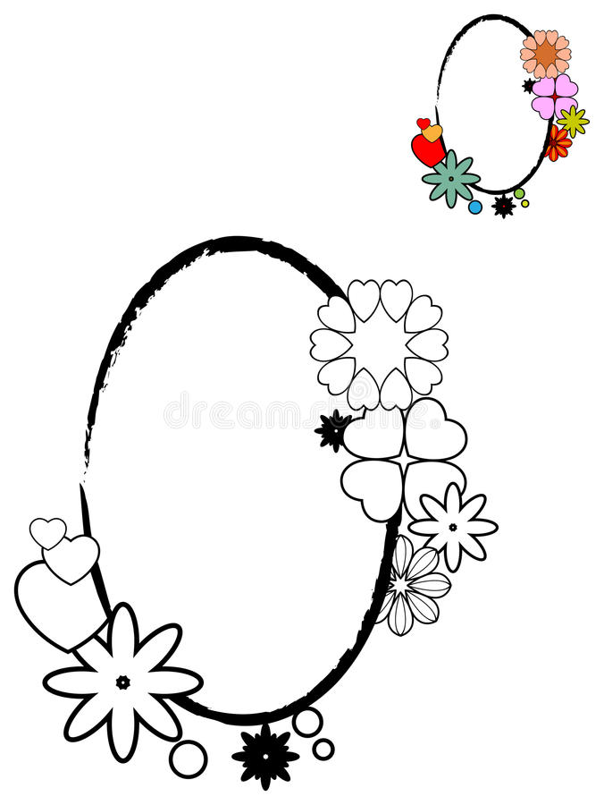 Von der Blumenfeldserie lizenzfreie abbildung