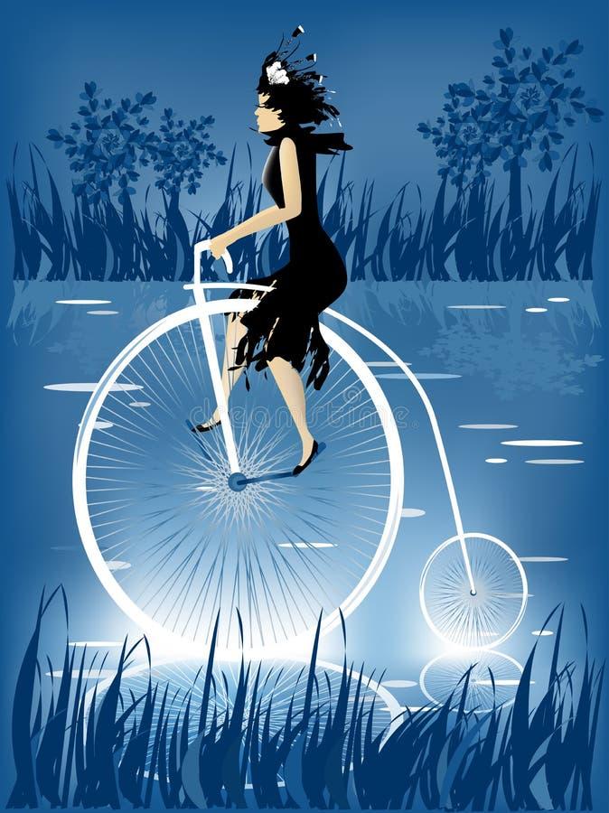 Von der Geschichte der Fahrräder lizenzfreie abbildung