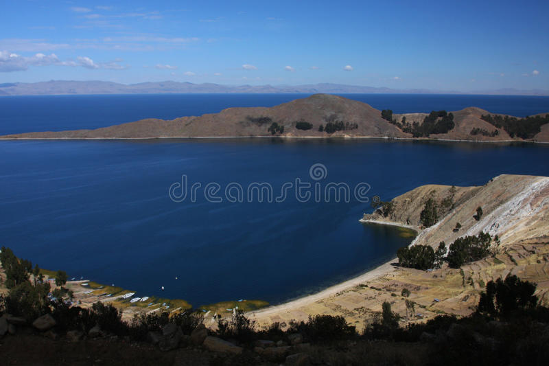 Von der Oberseite von Sun-Insel lizenzfreies stockbild