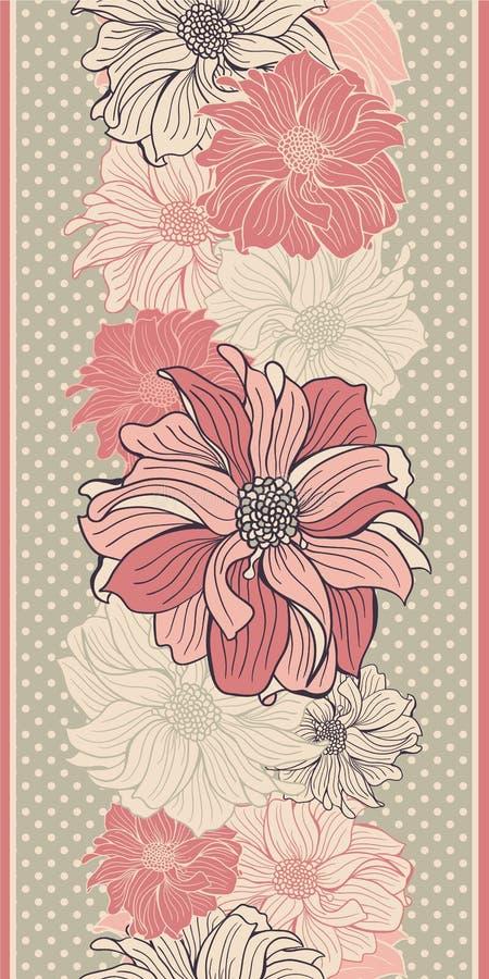 Von Hand gezeichnete Blumen der Dahlie stock abbildung