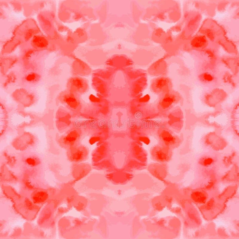 Von Hand gezeichnete nahtlose Musterfliese des roten Vektoraquarells lizenzfreie abbildung