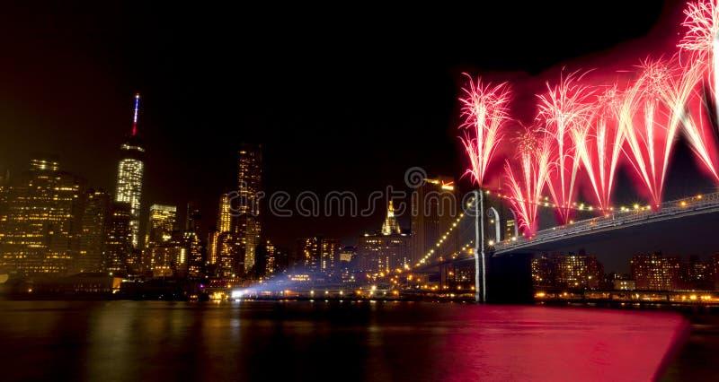4. von Juli-Feier New York City (2014) stockbilder