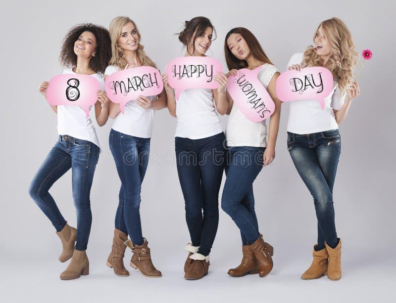 8 von März, der Tag der Frauen stockfotos