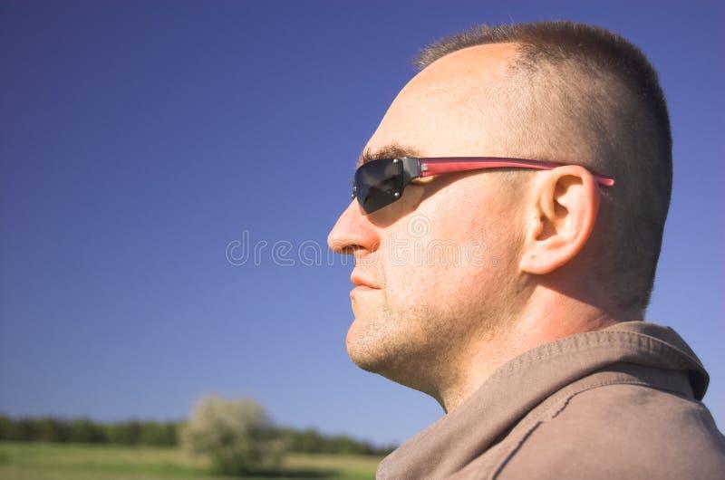 Von mittlerem Alter Mann stockfoto
