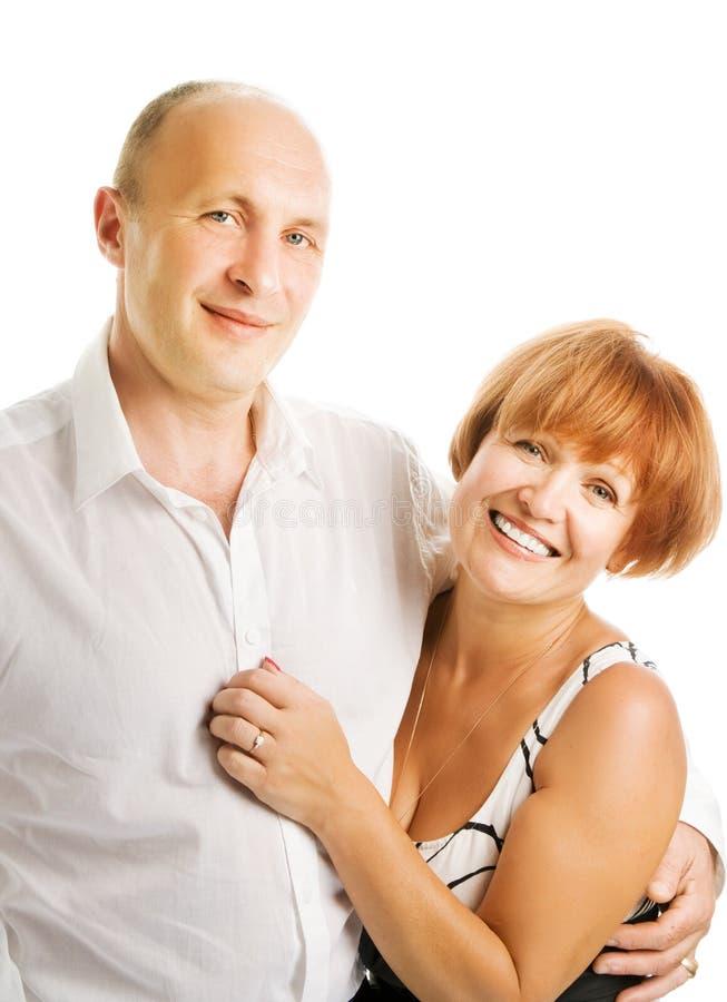 Von mittlerem Alter Paare in der Liebe stockbilder