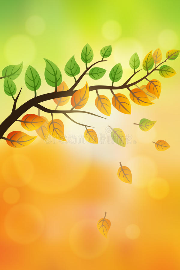 Von Sommer zu Herbst vektor abbildung