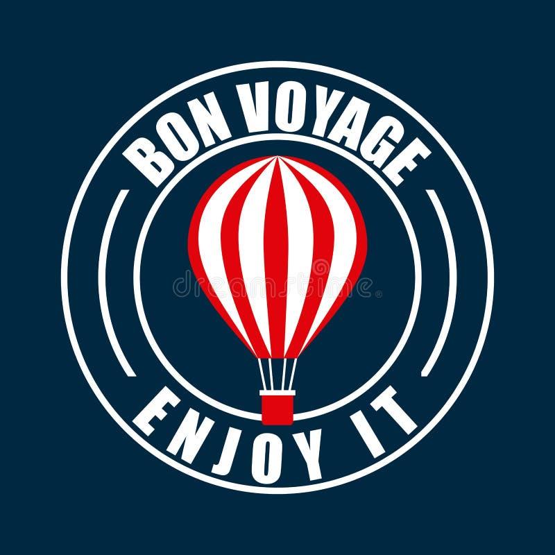Von voyage seal design. Illustration eps10 graphic stock illustration