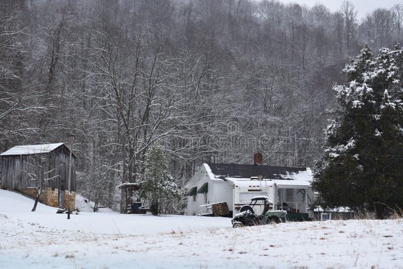 Von West Virginia im Wald leben stockbild