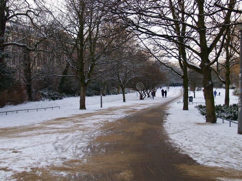 Vondel Park im Winter lizenzfreie stockbilder