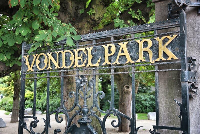 Vondelpark Amsterdam fotografering för bildbyråer
