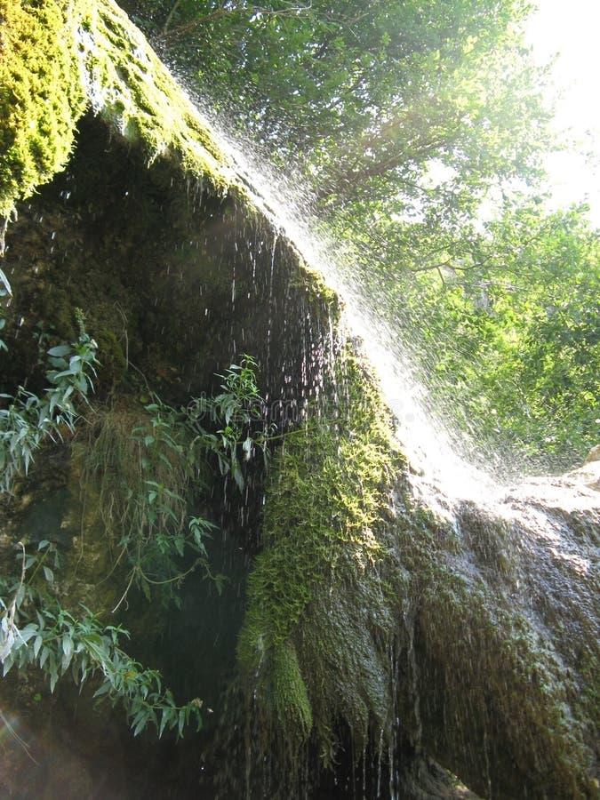 Vonken van waterval stock foto's