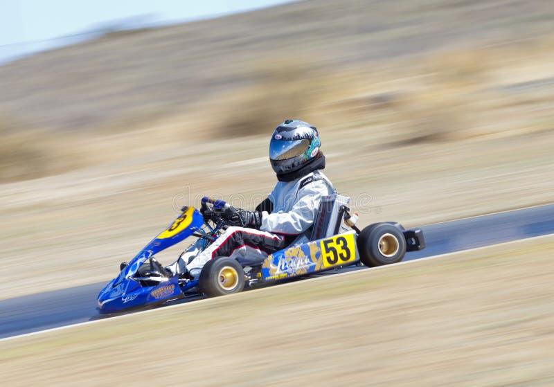 Vont le coureur #53 de kart photos stock