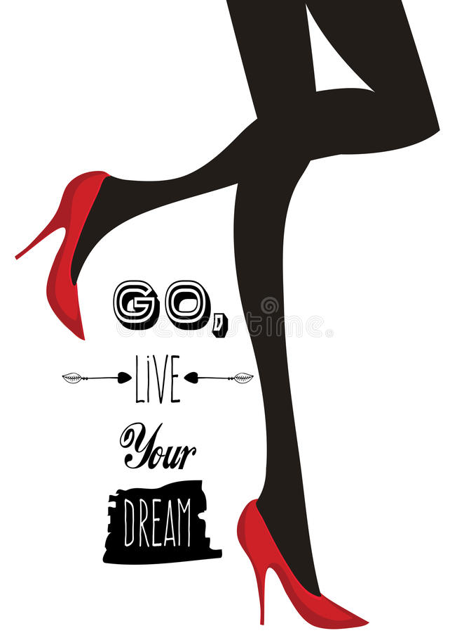 Vont Live Your Dream illustration de vecteur