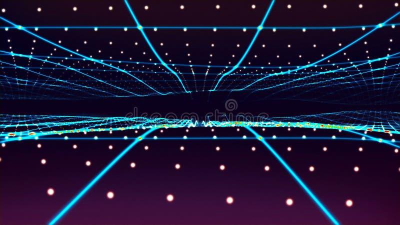 Voo através das estrelas rendição 3d ilustração do vetor