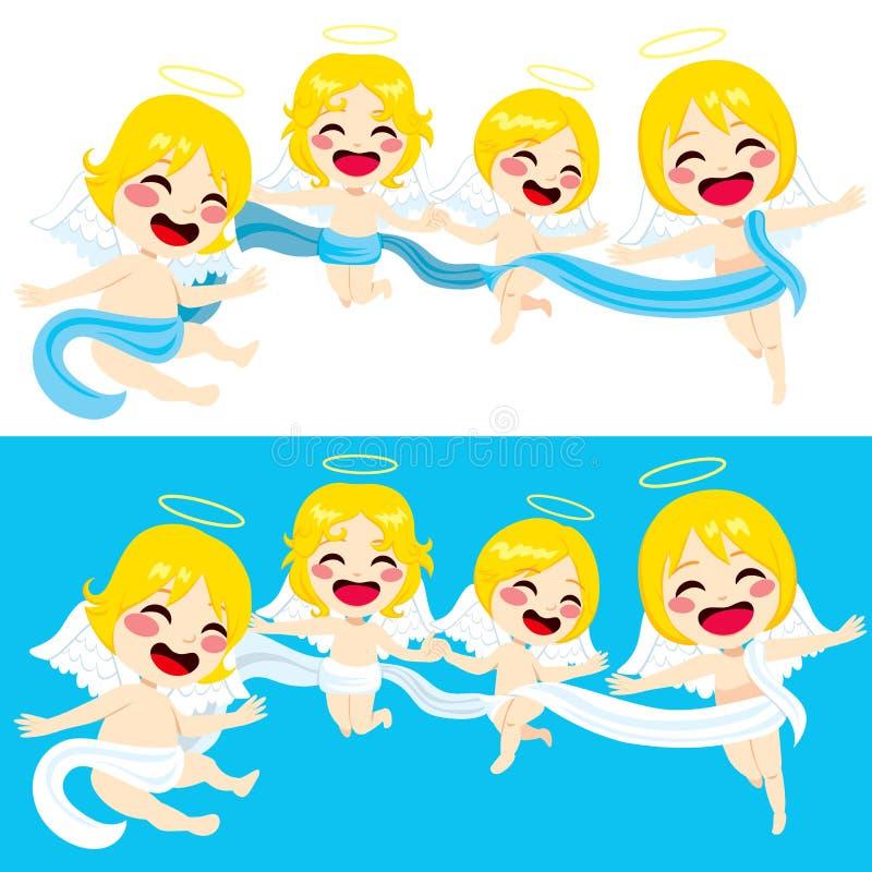 Voo bonito dos anjos ilustração royalty free