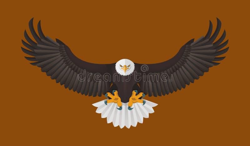 Voo da águia americana, ilustração do vetor ilustração royalty free
