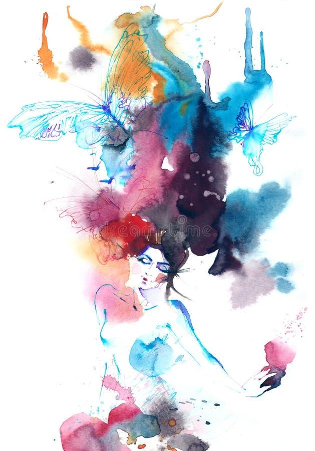 Voo da alma ilustração royalty free