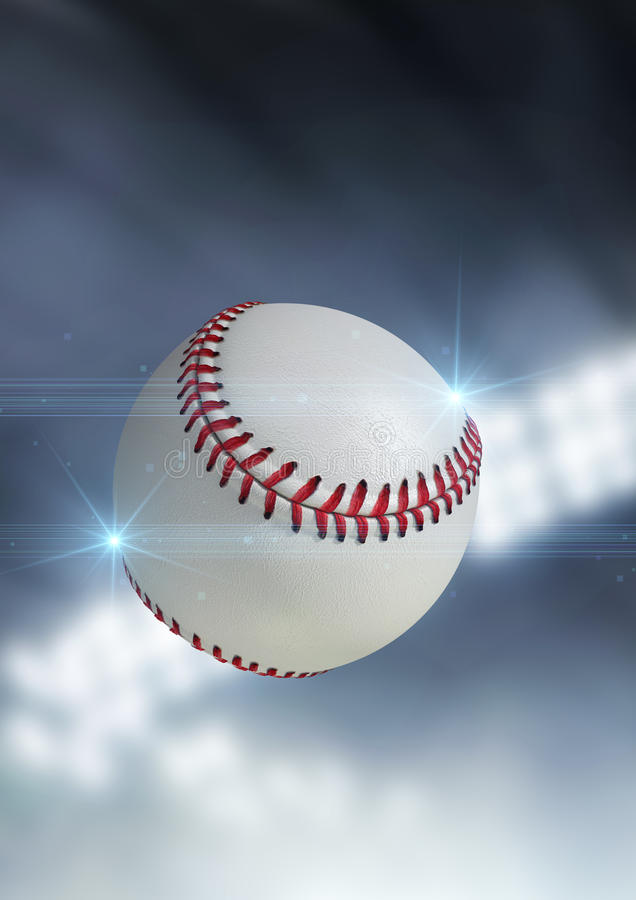 Voo da bola através do ar foto de stock royalty free