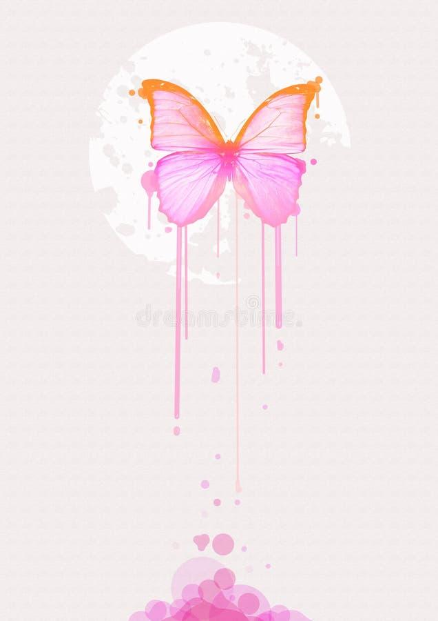 Voo da borboleta de Colorfull ilustração royalty free